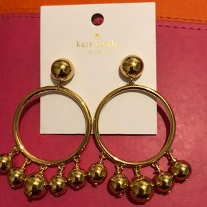 Kate Spade Large Bauble Hoop Earrings NWT